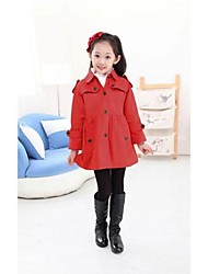 Girl's Cotton Blend/Polyester Trench Coat , Spring/Fall Long Sleeve