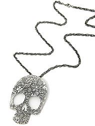 moda myjk high end crânio do vintage em forma de colar longo