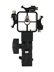 pivotant dualane griffe triple adaptateur de montage éclair parapluie titulaire stand de lumière de support - noir