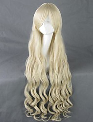 Panty Stocking with Garterbelt Panty Long Curly Light Yellow Cosplay Wig