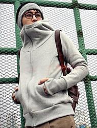 fleece selvagem do homem até luvas suéter