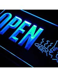 j824 restaurant ouvert signe cuisinier alimentaire bière néon de lumière
