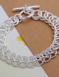 mille-pattes bracelet de plaque d'argent des femmes vives