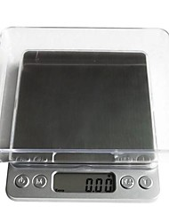 Digital LCD Electronic Kitchen Weight Food Scale Balance1000g/0.1g, Plastic 12.7X10.6X1.9cm