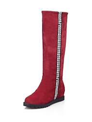 de schoenen van vrouwen te bestrijden platte hak knie hoge laarzen meer kleuren beschikbaar