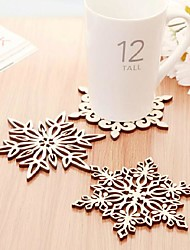 Snowflake Wood Hollow Coasters