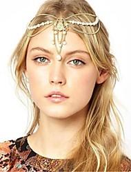 cristal perle d'imitation chaîne de charme pépite couronne bandeau de cheveux élégant