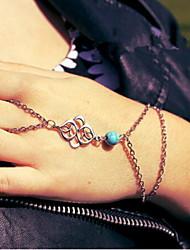 shixin® clássico charme pulseira azul resina de prata (1 pc)