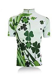 getmoving a alta qualidade de verão de manga curta de poliéster respirável camisa de ciclismo feminino da natureza - + verde