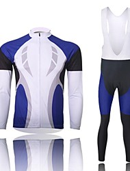 XINTOWN Men's Contracted Quick Dry Moisture Absorption Long Sleeve Bib Tights Cycling Suit