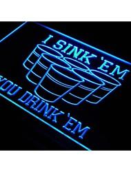 j556 i afundar 'em que você bebe' em cerveja sinal de luz pong