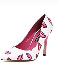 Stiletto - Lackleder - FRAUEN Absätze/Spitze Zehe - Pumps / High Heels ( Rosa/Weiß )