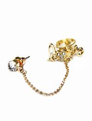 cadena de moda femenina del traje de los pendientes de clip del oído de la cadena (el amor)