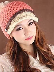 tranças das mulheres small cap cor de malha de lã com aba
