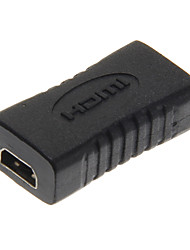 High Speed Micro HDMI Female to Micro HDMI Female Black Adapter