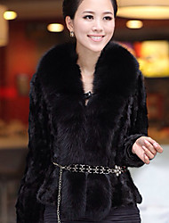 XT Splicing Fur Coat_113 (Black)