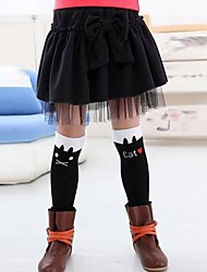 Girl's Fashion Sweet Bowknot Fold Skirt