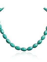Women's Fashion Turquoise Beads Cluster Stylish Necklace