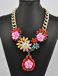 Eternity Women's Flower Pattern Necklace