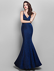 TS Couture® Prom / Formal Evening / Military Ball Dress - Elegant / Vintage Inspired Plus Size / Petite Trumpet / Mermaid V-neck Floor-length Jersey