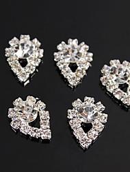 10 Stück Kristallregentropfen-Design 3D-Silber-Legierung bling Nagelkunstdekoration