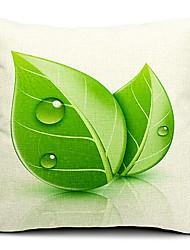 свежие листья хлопок / лен декоративная наволочка