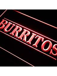 burritos I288 señal de luz de neón