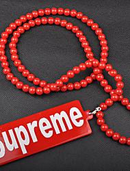 moda popular colgante suprema acrílico rojo collar colgante (1 pc)
