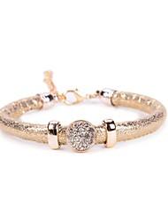 One Row Glitter Stone Stone PU Bracelet
