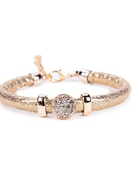 One Row Glitter Stone Stone PU Bracelet Christmas Gifts