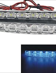 Carking™ 12V 6LED Universal Car Light DRL Daytime Running Head Lamp-Blue Light(2PCS)