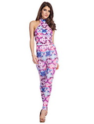 Mulheres de incandescência Floral Jumpsuit