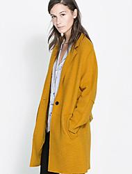 haoduoyi cintrée manteau avec ceinture