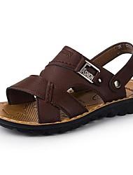 Chaussures Hommes Décontracté Cuir Sandales Marron