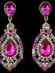 Jingjing Women's Vintage Teardrop Cubic Zirconia Earrings