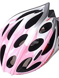 INBIKE unisex 25 respiraderos de pc + eps rosa y blanco portátil moldeado integralmente-casco de bicicleta (58-60cm)