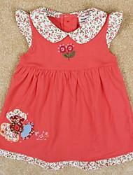 vestidos de manga vestido de vestidos de festa flores do verão bordado princesa cap algodão vestido das crianças impressão aleatória