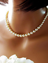 Necklace Strands Necklaces Jewelry Wedding / Party / Daily / Casual Fashion Imitation Pearl White 1pc Gift