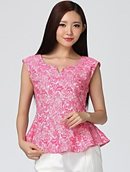 Women's Pink Blouse Sleeveless