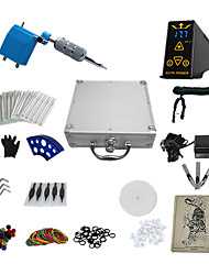 1 Gun Complete No Ink Tattoo Kit with Blue Plastic Motor Machine