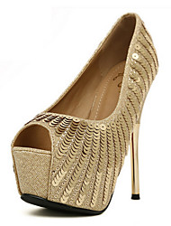 Mooka Luxusdamen Plattform Peep Toe Stiletto-Absatz elegante Sandalen