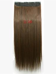 clip di capelli sintetici di vendita caldo di estensione dei capelli per la bella ragazza di 22 pollici ombre 2 tono
