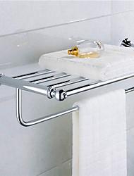 estantes de latón cromado baño materiales contemporáneos