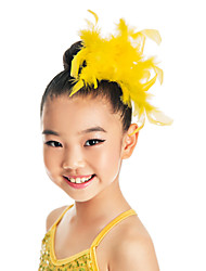Dance Accessories Headpieces Children's Training Feathers Feathers /Fur Purple / Yellow Ballet / Performance Spring, Fall, Winter, Summer
