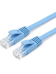 2m J45 gato Cat 6A UTP 6 plana cabo de extensão de patch cabo de rede Ethernet RJ45