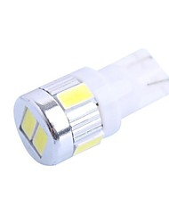 T10 2W 160LM 6000K 6x5630 SMD White LED for Car Steering Light (DC 12-24V,, 1Pcs)