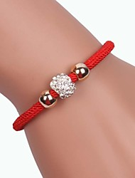 Three beads Alloy Handmade Zircon Bracelets Christmas Gifts