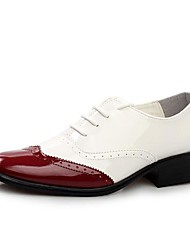 Men's Shoes Office & Career/Casual/Party & Evening Leather/Patent Leather Oxfords Blue/Red/Multi-color