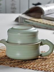 stile cinese set da tè in porcellana supremazia, 1 pc teiera, 1 pc tazza di tè