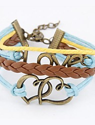 European Style Fashion Personality LOVE Heart to Heart Bracelet
